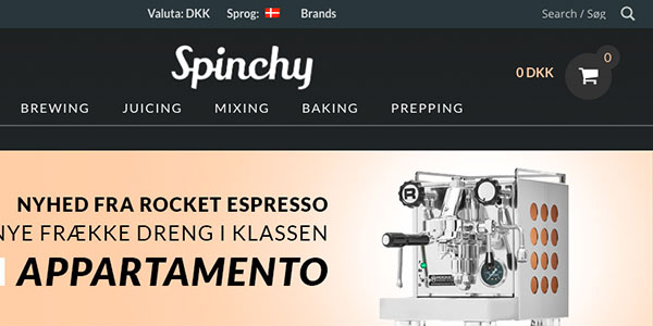 Spinchy.com @ Jerndorff Digitalt Design